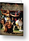 Belly Dance Greeting Cards - Dancer Greeting Card by Perry Webster