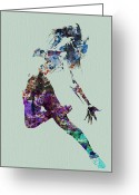 Dangerous Greeting Cards - Dancer watercolor Greeting Card by Irina  March