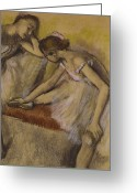 Resting Greeting Cards - Dancers in Repose Greeting Card by Edgar Degas