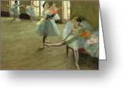 Ballet Dancer Greeting Cards - Dancers in the Classroom Greeting Card by Edgar Degas