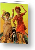 Elderly Painting Greeting Cards - Dancin Cause its Tuesday Greeting Card by Shelly Wilkerson