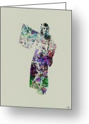 Performing Greeting Cards - Dancing in Kimono Greeting Card by Irina  March