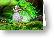 Prophetic Art Greeting Cards - Dancing in The Glory Greeting Card by Dolores DeVelde
