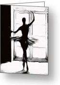 Ballet Dancer Greeting Cards - Dancing into the Light Greeting Card by Stefan Kuhn