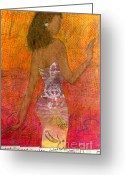Survivor Mixed Media Greeting Cards - Dancing Lady Greeting Card by Angela L Walker