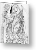 Greek Sculpture Greeting Cards - Dancing Maenad Greeting Card by Sabrina Khan