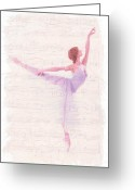 Ballet Dancer Greeting Cards - Dancing Melody Greeting Card by Stefan Kuhn