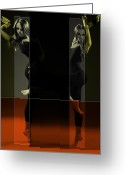 Legs Digital Art Greeting Cards - Dancing Mirrors Greeting Card by Irina  March
