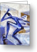 Flexibility Greeting Cards - Dancing Off the Edge of the World Greeting Card by Michelle Calkins