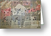 Grooving Greeting Cards - Dancing Song Greeting Card by Gwyn Newcombe