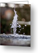 Steven Gray Greeting Cards - Dancing Water Greeting Card by Steven Gray