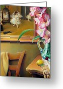 Gladiolus Greeting Cards - Dancing with Glads Greeting Card by Patrick Anthony Pierson
