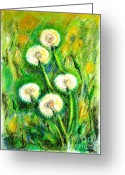 Most Greeting Cards - Dandelions Greeting Card by Zaira Dzhaubaeva