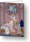 Nudes Greeting Cards - Dangerous Liaisons Greeting Card by Georges Barbier
