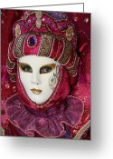 Fushia Photo Greeting Cards - Danielles Portrait Greeting Card by Donna Corless