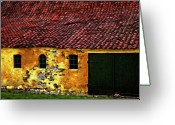 Shed Greeting Cards - Danish Barn watercolor version Greeting Card by Steve Harrington