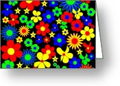 Asbjorn Lonvig Greeting Cards - Danish Flowers Flora Danica Square Greeting Card by Asbjorn Lonvig