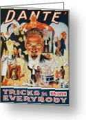 Magic Tricks Greeting Cards - Dante Tricks for Everybody Greeting Card by Unknown
