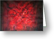 Stage Pastels Greeting Cards - Dantons Death Greeting Card by Terrell Gates