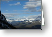 Rows Of Peaks Greeting Cards - Dappled Slopes Greeting Card by Greg Hammond