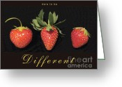 Hairstyles Greeting Cards - Dare to be Different Greeting Card by Patricia Overmoyer