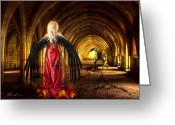 Long Dress Greeting Cards - Dark Angel Greeting Card by Svetlana Sewell