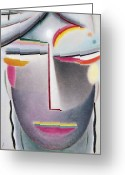 Head (dark Buddha) Greeting Cards - Dark Buddha Greeting Card by Alexej von Jawlensky