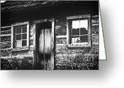 Fishers Greeting Cards - Dark Cabin Greeting Card by Lj Lambert