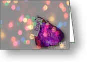 Confections Greeting Cards - Dark Greeting Card by Cheryl Young