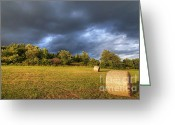 Darken Greeting Cards - Dark Clouds Before Storm Greeting Card by Michal Boubin