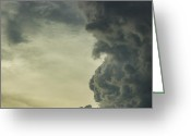 Milos Dacic Photo Greeting Cards - Dark clouds Greeting Card by Milos Dacic