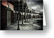 Modern Day Ruins Greeting Cards - Dark Entrance Greeting Card by Pixel Perfect by Michael Moore