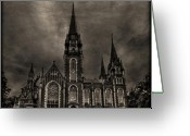 Cathedral Greeting Cards - Dark Kingdom Greeting Card by Evelina Kremsdorf
