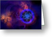 Dimension Greeting Cards - Dark Matter Greeting Card by Corey Ford