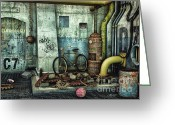 Forgotten Greeting Cards - Dark Places Tell Stories Greeting Card by Jutta Maria Pusl