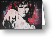 Jim Morrison Greeting Cards - Dark Poet Greeting Card by Eric Dee