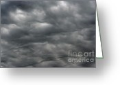 Darken Greeting Cards - Dark Rainy Clouds Greeting Card by Michal Boubin