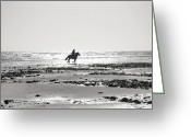 Contre Jour Greeting Cards - Dark Rider Greeting Card by Jan Carr