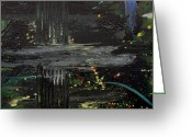 Star Clusters Greeting Cards - Dark Space Greeting Card by Ethel Vrana