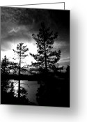 Tahoe Greeting Cards - Darkness Crawls Greeting Card by Leah Moore