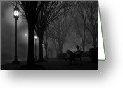 Harrisburg Greeting Cards - Darkness Falls Greeting Card by Lori Deiter