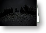 Granite Sculpture Greeting Cards - Darkscape Greeting Card by Timothy Hedges