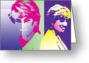 British Royalty Greeting Cards - Darling Diana Greeting Card by Jimi Bush