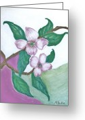 Wall Pastels Greeting Cards - Darling Dogwood Greeting Card by Marsha Heiken