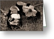 Photography Tk Designs Greeting Cards - Darling Little Baby Shoes Greeting Card by Tracie Kaska