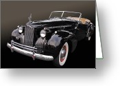 Custom Roadster Greeting Cards - Darrin Cabriolet Greeting Card by Bill Dutting