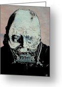 Dark Drawings Greeting Cards - Darth Vader Anakin Skywalker Greeting Card by Giuseppe Cristiano