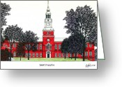 League Mixed Media Greeting Cards - Dartmouth Greeting Card by Frederic Kohli
