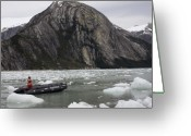 Ice Floes Greeting Cards - Darwins Passage in Chile Greeting Card by Carl Purcell