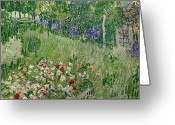 Green Field Painting Greeting Cards - Daubignys Garden Greeting Card by Vincent Van Gogh